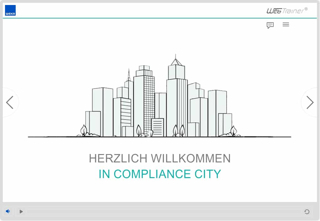 Screenshot E-Learning-Kurs Compliance