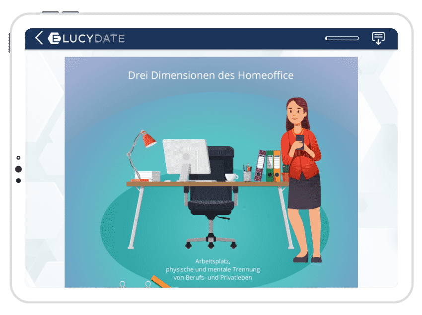 Screenshot E-Learning ELUCYDATE